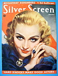 Silver Screen Magazine Cover Jan 1936 Carole Lombard