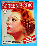 Screen Book Magazine Cover November 1936 Myrna Loy