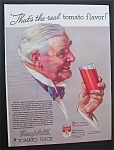 Click here to enlarge image and see more about item 942: Norman Rockwell 1934 Campbell's Tomato Juice Ad