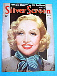 Silver Screen Magazine Cover Mar 1936 Marlene Dietrich