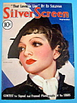 Silver Screen Magazine Cover Sep 1935 Claudette Colbert