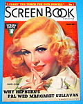 Screen Book Magazine Cover February 1937 Ginger Rogers