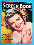 Screen Book Magazine Cover April 1935 Myrna Loy