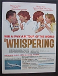 Click here to enlarge image and see more about item 944: Norman Rockwell 1963 Pan Am Whispering Tours Ad