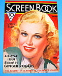 Screen Book Magazine Cover Feb 1936 Ginger Rogers