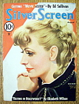 Silver Screen Magazine Cover August 1935 Greta Garbo