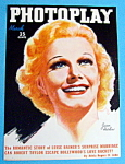 Photoplay Magazine Cover March 1937 Jean Harlow