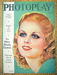 Photoplay Magazine Cover August 1932 Jean Harlow