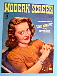 Modern Screen Magazine Cover October 1940 Bette Davis