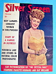 Silver Screen Magazine Cover February 1943 Betty Grable