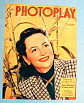 Photoplay Magazine Cover Oct 1947 Olivia De Haviland