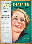 Screen Romances Magazine Cover Nov 1932 Norma Shearer