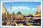 Crowds At Streets of Paris Postcard-Chicago World Fair