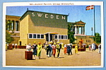 Click to view larger image of 1933 Century of Progress Swedish Pavilion Postcard (Image1)