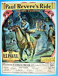 E.T. Paull 1905 Paul Revere's Ride March Sheet Music