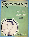 Sheet Music For 1930 Reminiscing