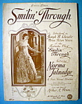 Click to view larger image of Sheet Music For 1919 Smilin' Through (Norma Talmadge) (Image1)