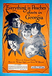 Sheet Music 1918 Everything Is Peaches Down In Georgia