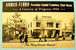 Click to view larger image of 1933 Century of Progress, Armco-Ferro Postcard (Image1)