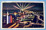 Night View of Sky Ride Postcard (Century Of Progress)