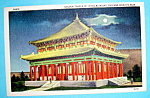 Golden Temple of Jehol By Night Postcard (Chicago Fair)