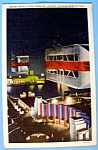 Rocket Cars Crossing Lagoon Postcard (Chicago Fair)