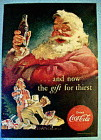 1952 Coca Cola (Coke) with Santa Claus & Children