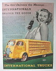 1938 International Trucks w/ Lovely Woman Holding Soda