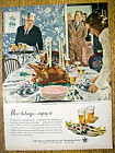 1950 Beer Belongs By Douglas Crockwell w/Thanksgiving