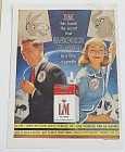 1960 L & M Cigarettes w/ Man & Woman & Political Signs