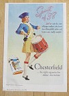 1938 Chesterfield Cigarettes with Woman Playing Drum