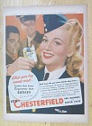1944 Chesterfield Cigarettes with Carole Landis
