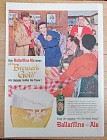 1957 Ballantine Ale with Two Couples Getting Together