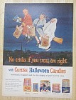 1962 Curtiss Halloween Candy with Kids Flying on Broom