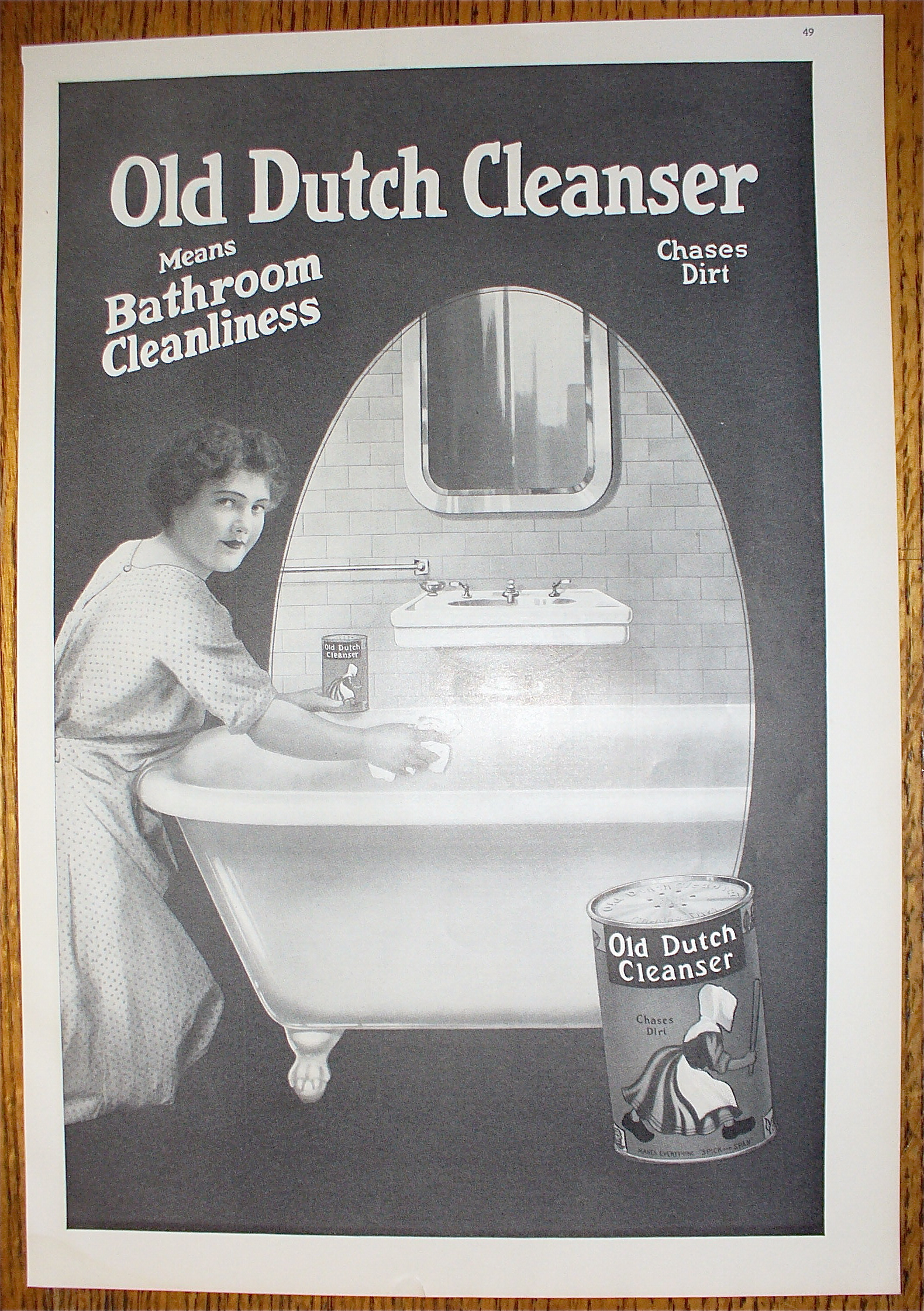 Vintage bathroom ads - 1914 Old Dutch Cleanser With Woman Cleaning Bathtub Soap Cleaners At Ads By Dee