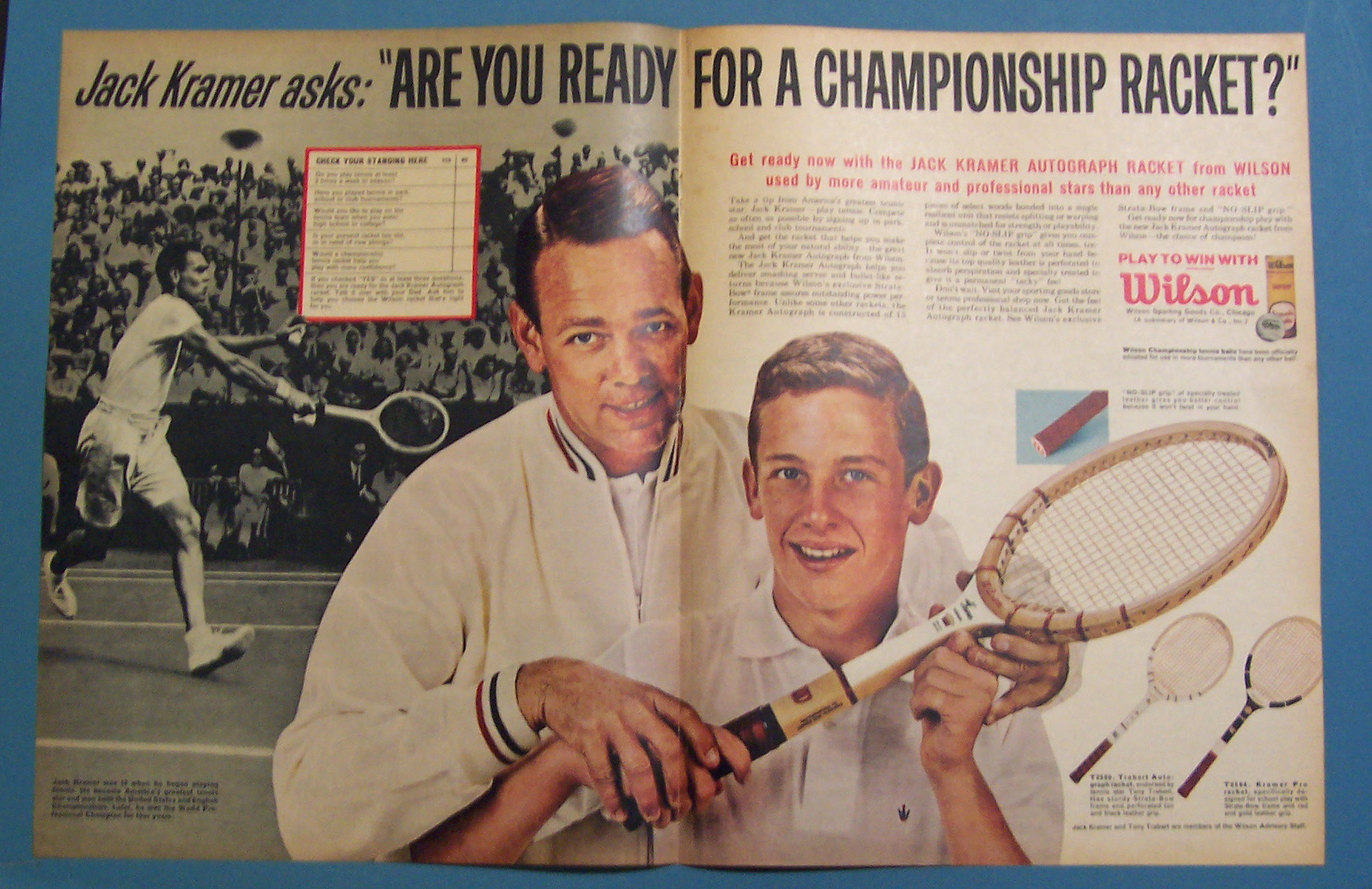 1963 Wilson Tennis Racket w Jack Kramer Miscellaneous Sports