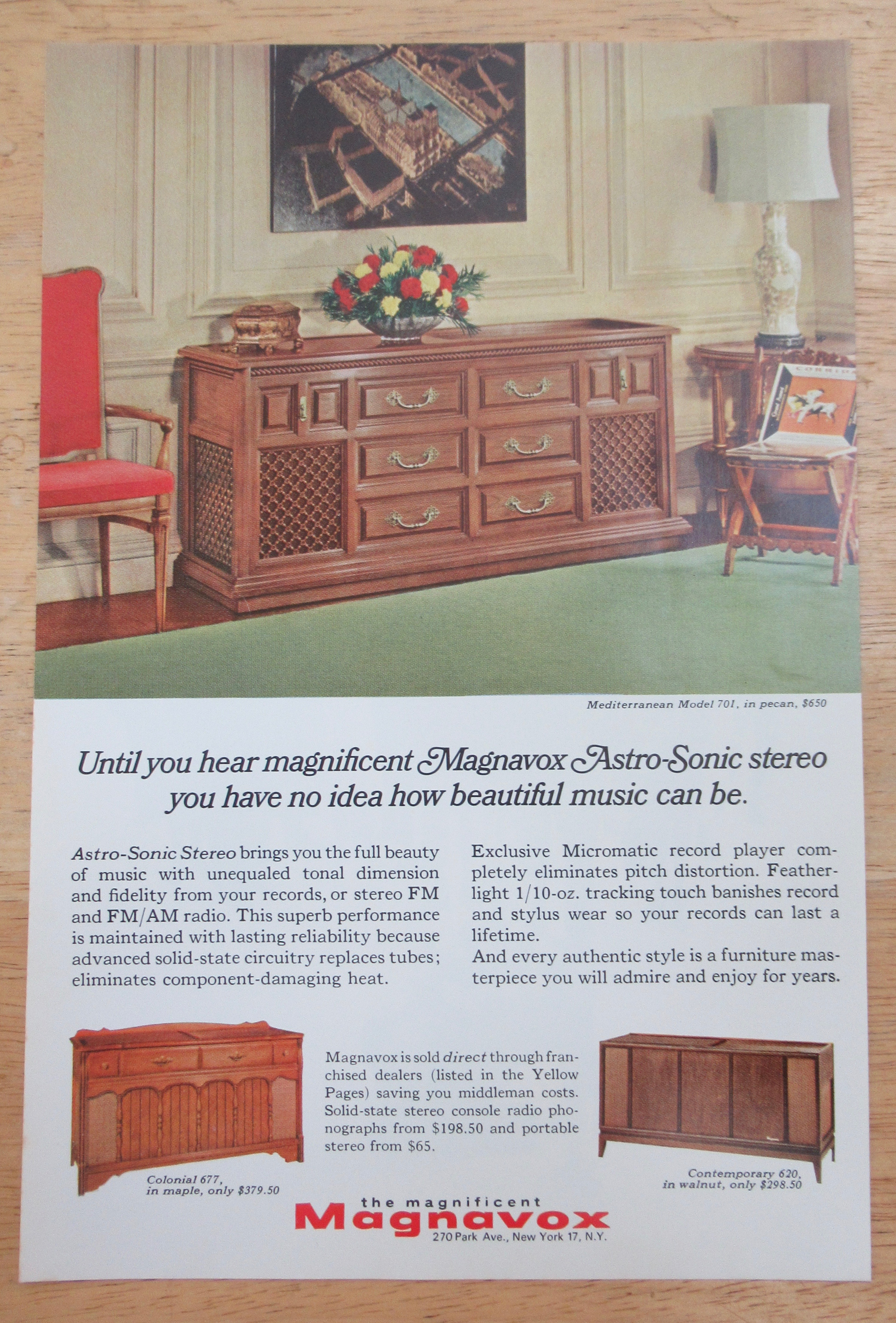 1966 Magnavox with The Astro Sonic Stereo (Furniture) at Ads By Dee