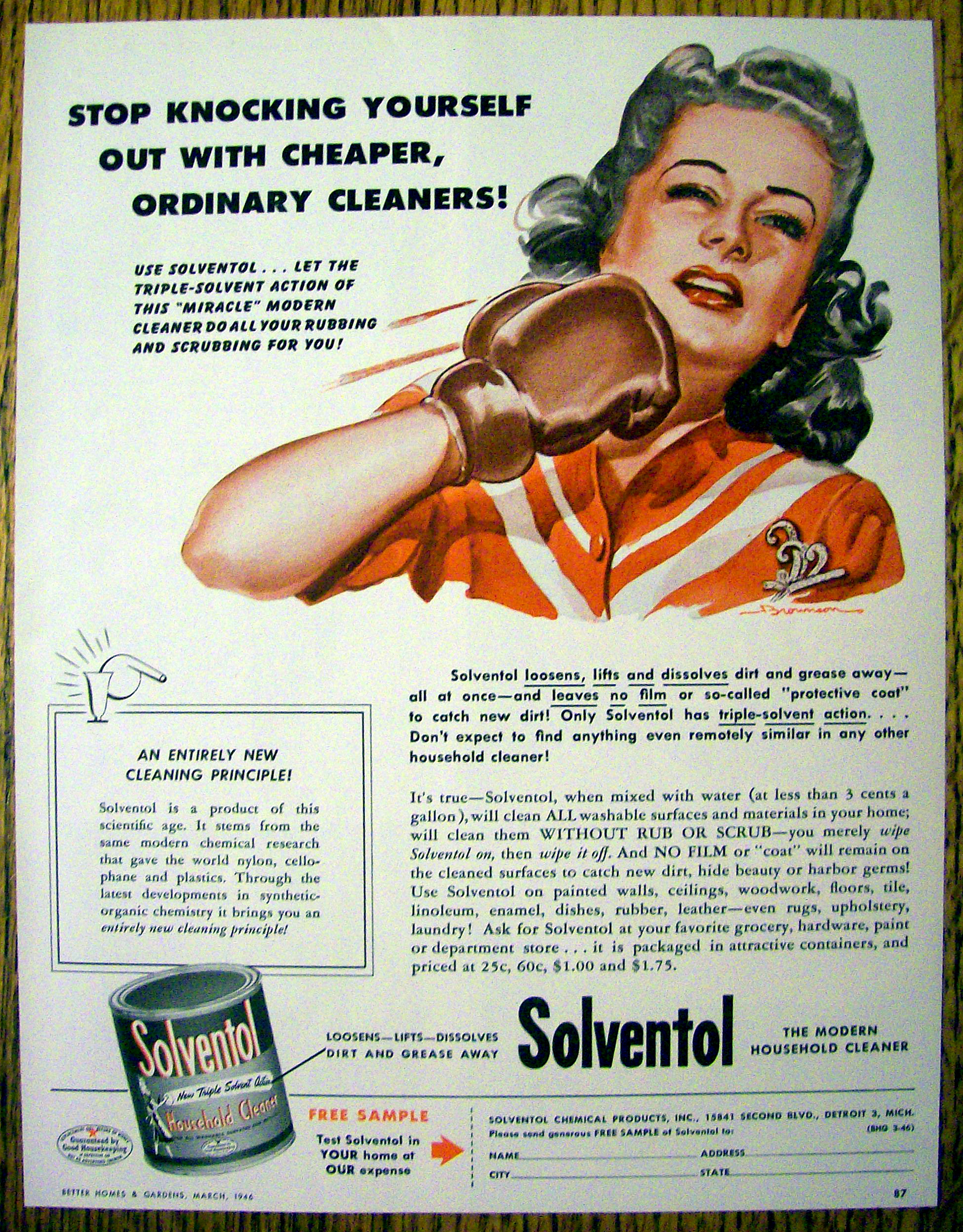 1946 solventol household cleaner w w punching self soap 1946 solventol household cleaner w w punching self soap cleaners at ads by dee