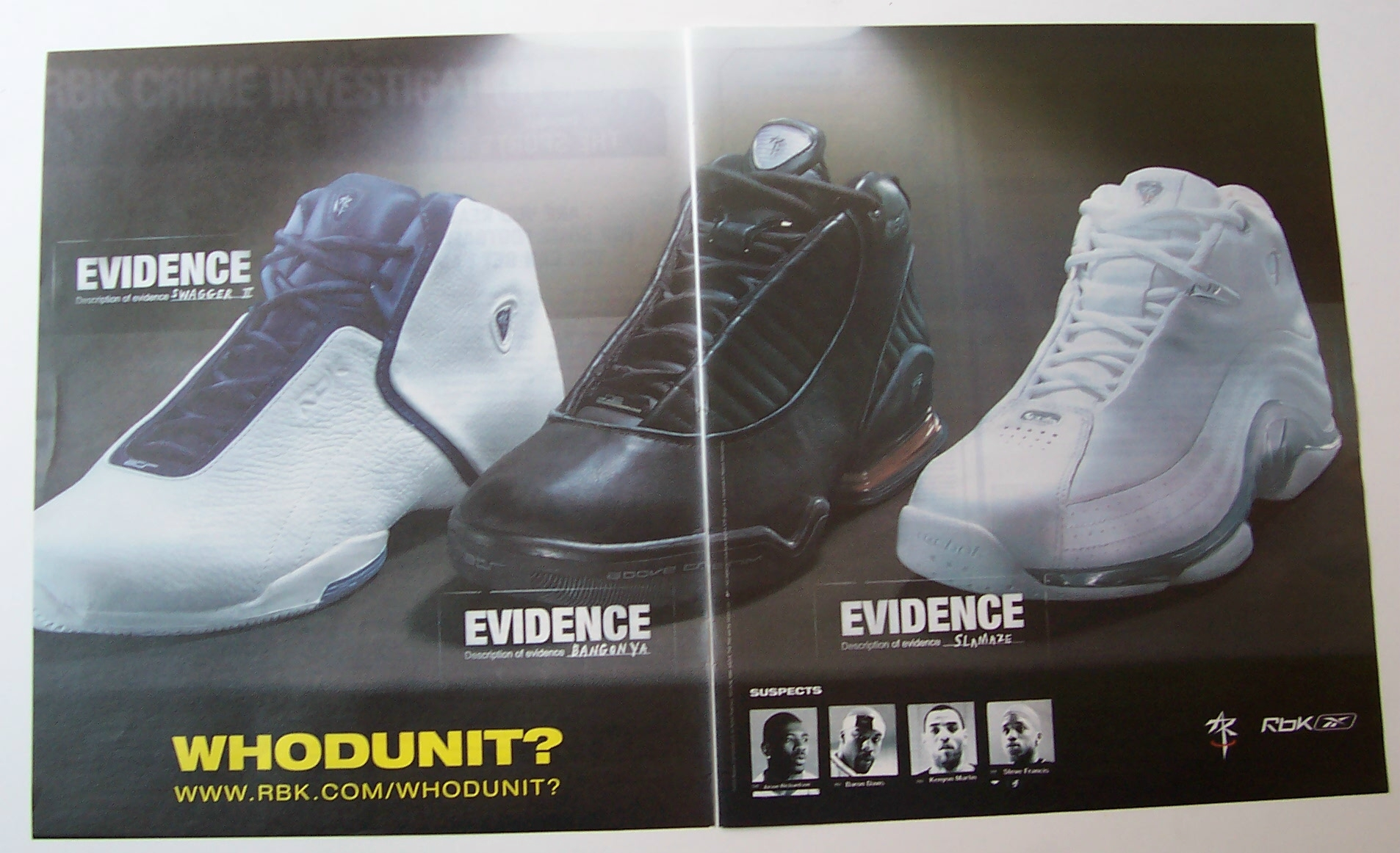 91d12886fa2 2003 Reebok with Steve Francis, Baron Davis & Others (Clothing) at Ads By  Dee