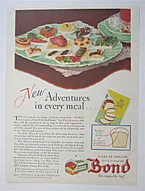 1931 Bond Bread With Appetizers