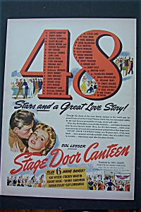 1943 Stage Door Canteen With 48 Stars & Love Story
