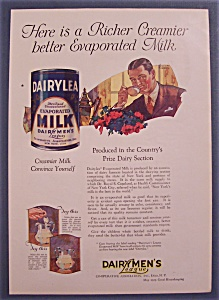 Vintage Ad: 1923 Dairylea Evaporated Milk