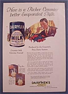 Vintage Ad: 1923  Dairylea Evaporated Milk (Image1)