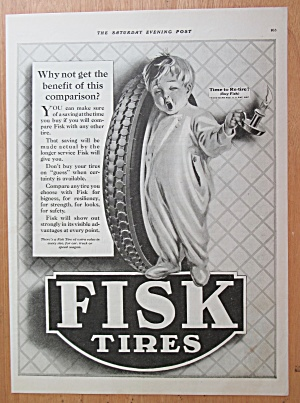 1922 Fisk Tires with Baby Holding Tire with Candle  (Image1)