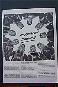 1943 Electric Companies With The All American Team