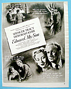 Vintage Ad: 1949 Edward, My Son W/ Spencer Tracy