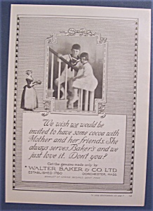Vintage Ad: 1923 Baker's Cocoa