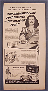 Vintage Ad: 1939 Post Toasties With Joan Bennett