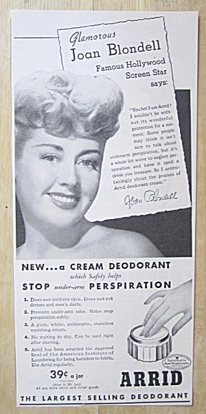 1945 Arrid Deodorant with Screen Star Joan Blondell (Image1)