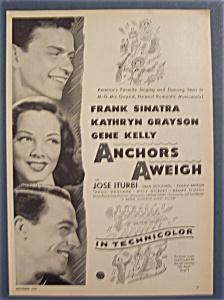Vintage Ad: 1945 Movie Ad For Anchors Aweigh